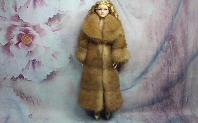 ~Honey Brown Genuine Mink Fur Coat for Ellowyne Wilde Sydney Tyler doll~dimitha~