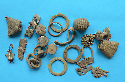 Lot of different parts of jewelry and thimbles