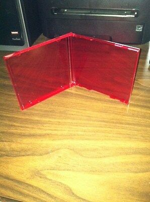100 Standard Cd Jewel Cases, Red No Tray Bl100 Red