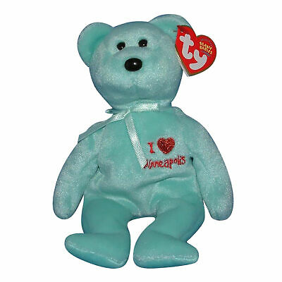 a00581baf9f TY I LOVE MINNEAPOLIS the BEAR BEANIE BABY - MINT with MINT TAGS ...