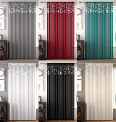 Skye Slot Top Voile Panels (One Panel) ~ Many Sizes & Colours ~