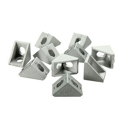 10PCS 20x20mm Aluminium Triangle Joint Brackets Right Angle Furniture Fittings