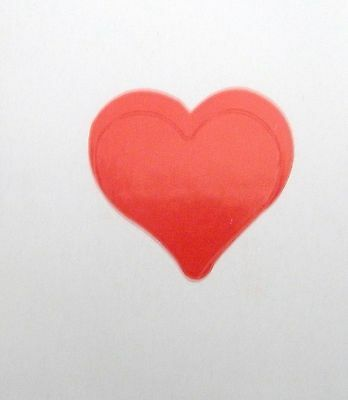 "3/4"" HEART VALENTINE STICKERs, Craft Stickers, Kids Stickers"