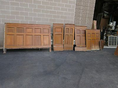 "LOT quartersawn RAISED panel OAK wainscot panels & molding trim ~ 48-55"" h x 7'L"