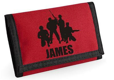 Personalised SOLDIERS/MILITARY Wallet.  Choice of colours