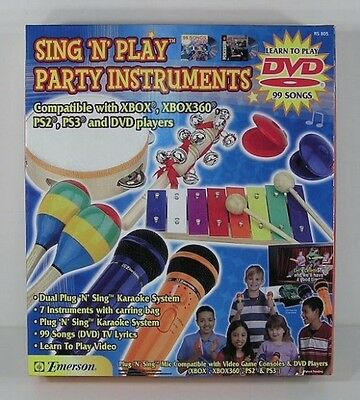 * Sing N Play Karaoke Microphone and Party Instrument Set RS 805 NEW RS805 *