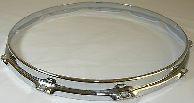 "14"" 10 Hole 3mm Triple Flanged Chrome Drum Hoop Batter Side between 2.3 Die Cast"