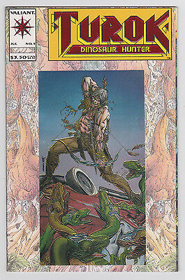 Turok Dinosaur Hunter #1 Chromium Embossed Cover Valiant 1993 Bart Sears art