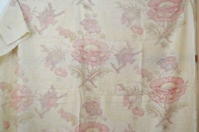 Sensational High End Decorator Linen Screen Print Rr949
