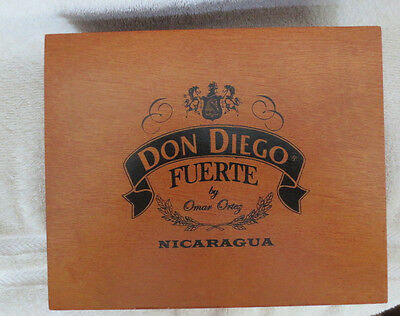 Don Diego Fuerte Belicoso Quality Wood Cigar Box - Nice!  - Beautiful !!!