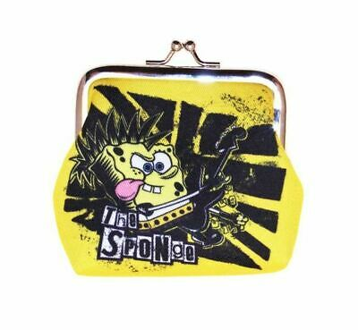 Spongebob Squarepants Rocker Yellow Coin Clip Wallet Purse New With Tags
