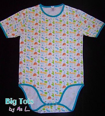 Adult Baby Jungel Animals bodysuit *Big Tots Exclusive*