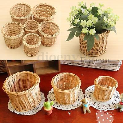 Country Pastoral Style Handmade Wicker Willow Storage Basket Hamper Small 6 Size