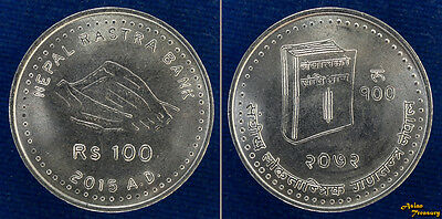 2015 Nepal 100 Rupees New Constitution Commemorative Nickel Coin Unc