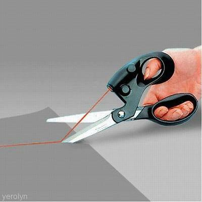 Durable Laser Guided Sewing Cut Straight Fast Fabric Paper Craft Scissors Tool