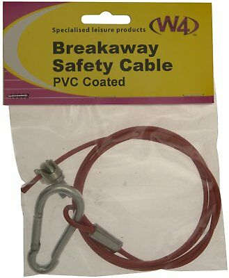 Breakaway Safety Cable PVC  Coated Caravan Trailer Easy Fit W4