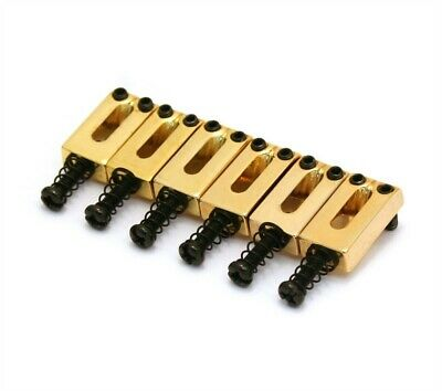 NEW - Narrow Spacing Bridge Saddles for Strat (6) - GOLD