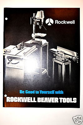 BE GOOD TO YOURSELF WITH ROCKWELL BEAVER TOOLS 1974 CATALOG #RR320 saws drills