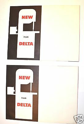 "2 ""new From Delta"" Flyer 1959 #rr65 20"" Metal-Wood Variable Speed Band Saw"