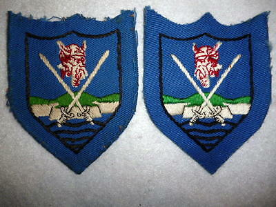 Eastern Command Embroidered Viking Patch Pair, British