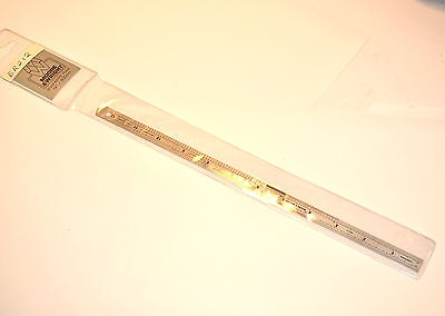 NOS Moore & Wright UK ER212 Steel Engineers' Rule 300mm (12 inch) Item No. 003A