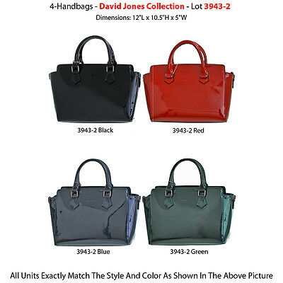 4 Premium Designer Handbags - 'David Jones' Collection 3943-1 - Women's Purses
