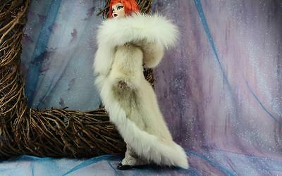 ~Tuxedo Style Hooded Cream Mink&Fox Fur Coat 4 Evangeline Ghastly dolls~dimitha~