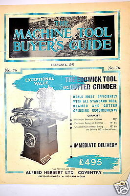 ALFRED HERBERT THE MACHINE TOOL BUYER'S GUIDE #76 Book  1955 #RR160 lathe drill