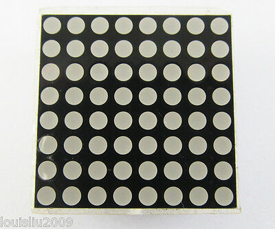 30pcs 8x8 Dot Matrix 3mm Red LED Display Common Anode