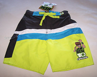 Ben 10 Omniverse Boys Multi Coloured Printed Board Shorts Size 5 New