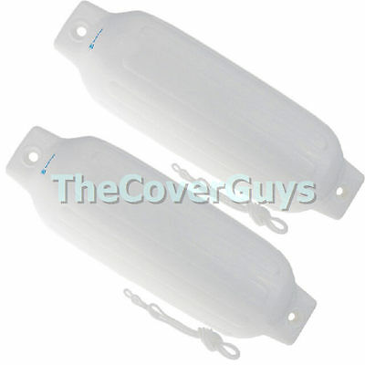 Boat Fender Inflatable Jumbo 700mm Maritime White Including Rope x 2