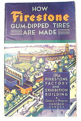 Vintage Brochure HOW FIRESTONE GUM-DIPPED TIRES ARE MADE - 1933 #RR861