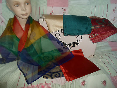 6 NEW Colourful Mixed Fibre Scarves Asian Pakistani Indian Short Duppata  #6