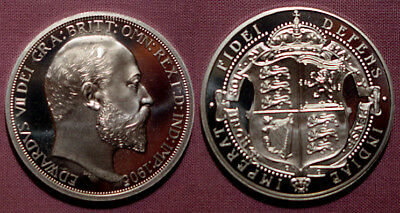 1905 King Edward Vii Pewter Pattern Proof Shield Crown