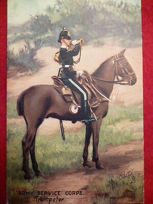 Postcard - Tuck's Oilette - Army Service Corps, Trumpeter