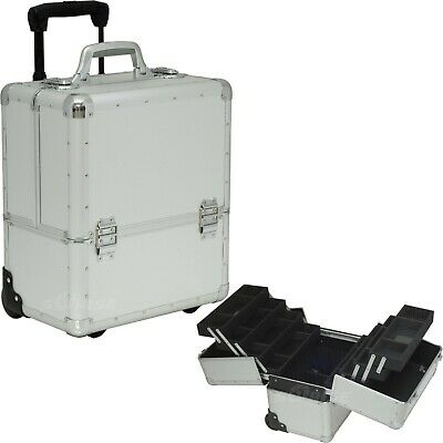 Professional Rolling Makeup Artist Case Hairstylist Storage Organizer by Sunrise