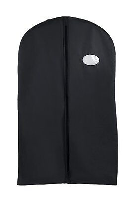New Black Vinyl Garment Bag Tuxedo Waterproof Bag 40""