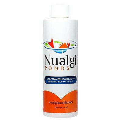Nualgi Ponds 250 ml Natural Algae Control & Water Clarifier-Promotes Fish Health