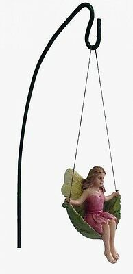 Fairy Garden Miniature  Swing with Fairy  Metal Hook included MG 71