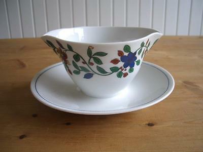 Thomas China - Floral Pattern THO539 - Sauce Boat with Fixed Saucer