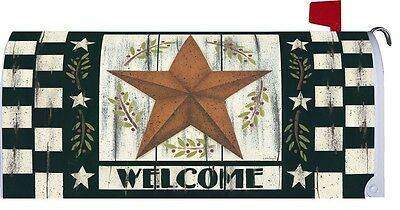 WELCOME FAMILY & FRIENDS BARN STAR Custom Decor MAGNETIC MAILBOX COVER USA Print