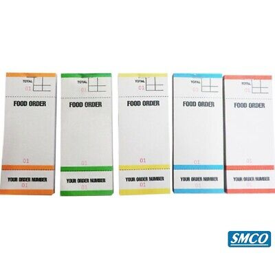Food Bar Restaurant Order Pads 5 Colours  3 Part Tear Off slip 1 Ply BF84 BF84RA