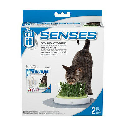 Catit Design Senses Refil Kit GRASS GARDEN GRASS GROWING KIT Cats love it!