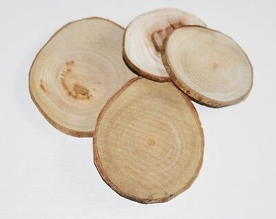 20 Pieces Wood-slices round 5-7cm wood Window Natural decoration Crafts