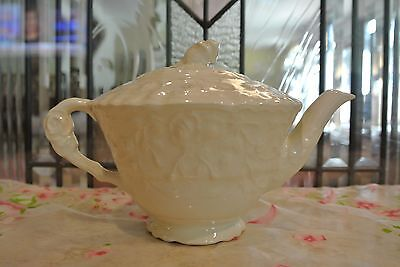 "POPE-GOSSER China ""Rose Point"" USA Tea Pot 4-1/2"" Tall"
