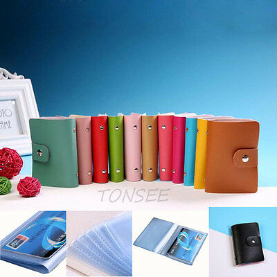 New Men Women Leather Credit Card Holder Case Card Holder Wallet Business Card