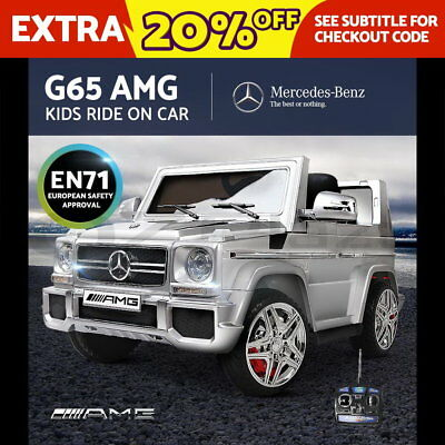 Kids Ride-On Car Licensed Mercedes-Benz AMG G65 Electric Toy 12V Remote Silver