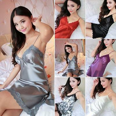 New Women Lace Lingerie Dress Babydoll Sleepwear Nightwear Pajamas Nightdress UK