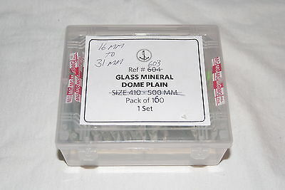 160 Pcs. Assortment Mineral Glass Crystals Domed  New Watch Parts
