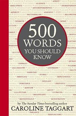 500 Words You Should Know by Taggart, Caroline Book The Cheap Fast Free Post